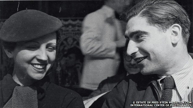 Gerda Taro and Robert Capa