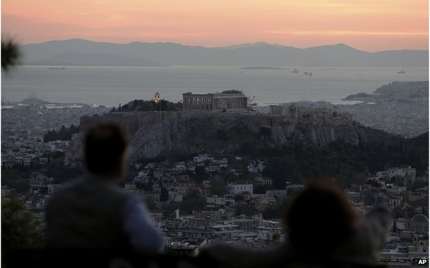 Athens sunset