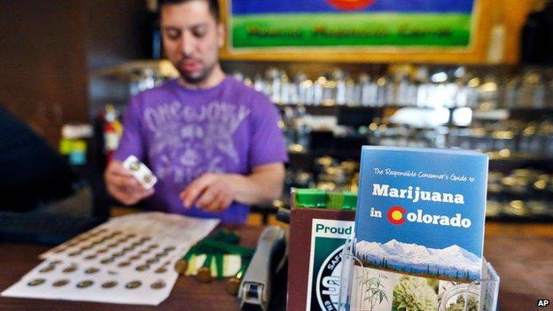 David Martinez, manager of 3D Cannabis Center in Denver, on 31 December 2013