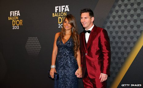 Lionel Messi at the Ballon D'Or