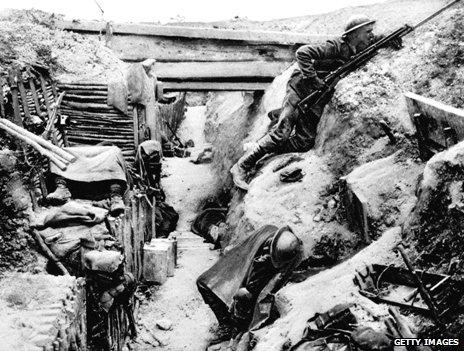 World war one trench