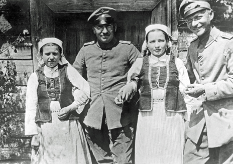German soldiers and Polish girls