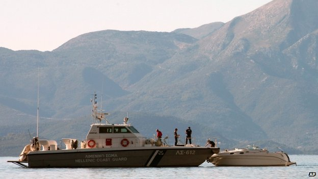 A Greek coast guard vessel (file image)