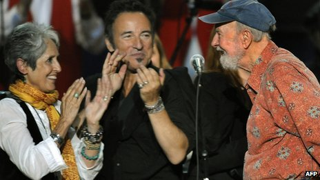 Joan Baez, Bruce Springsteen and Pete Seeger