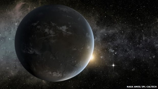 Artist's impression of an exoplanet