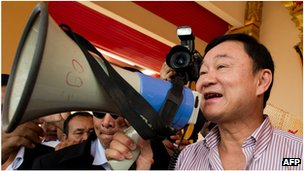 Thaksin Shinawatra, file image from 2012 in Laos