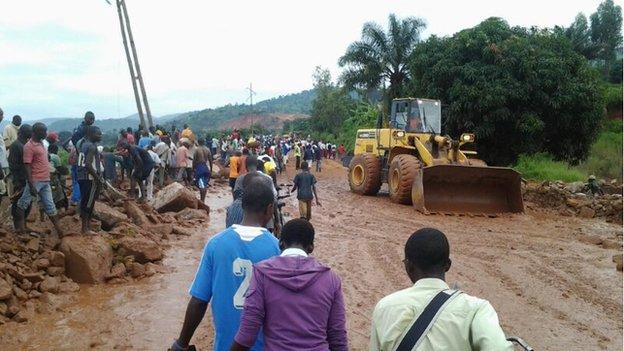 Bulldozer in Bujumbura