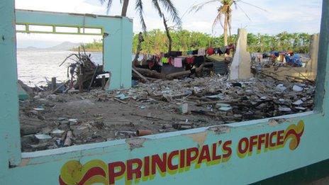 elementary school at Binon-An in Batad municipality, Iloilo province, Panay island