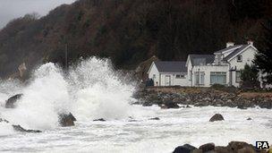Garron point on the Antrim coast, Northern Ireland