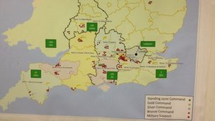 Map from govt flood response briefing