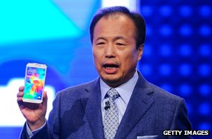 President of Samsung, JK Shin presents the new Samsung Galaxy S5