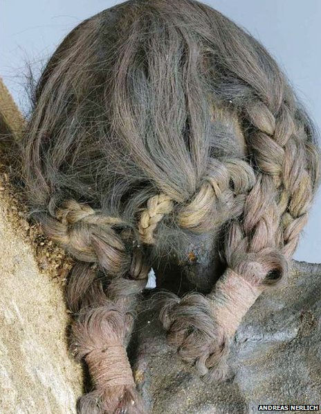 External appearance of the hair plaits