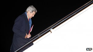 US Secretary of State John Kerry US Secretary of State John Kerry departs Joint Base Andrews in Washington en route to Ukraine. Photo: 3 March 2014