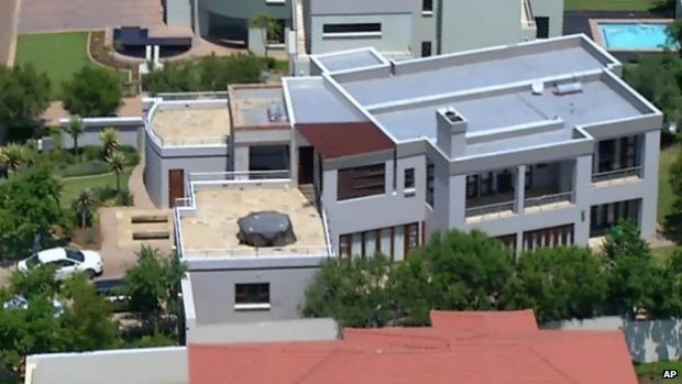 This aerial image showing the home of Oscar Pistorius in Pretoria on 14 February 2013
