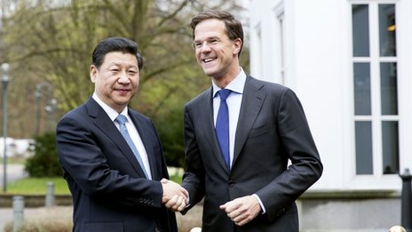 President Xi met Dutch PM Mark Rutte ahead of the Nuclear Security Summit