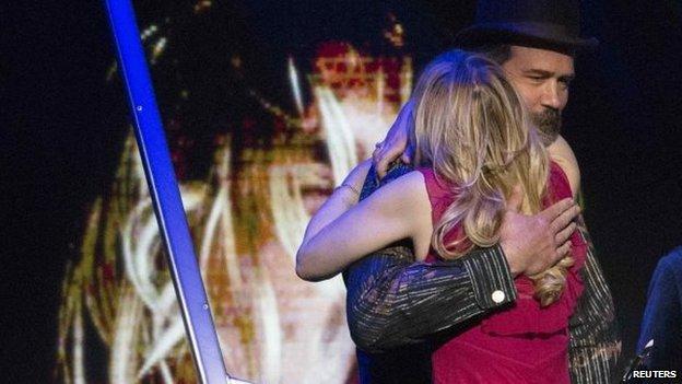 Courtney Love y Krist Novoselic,