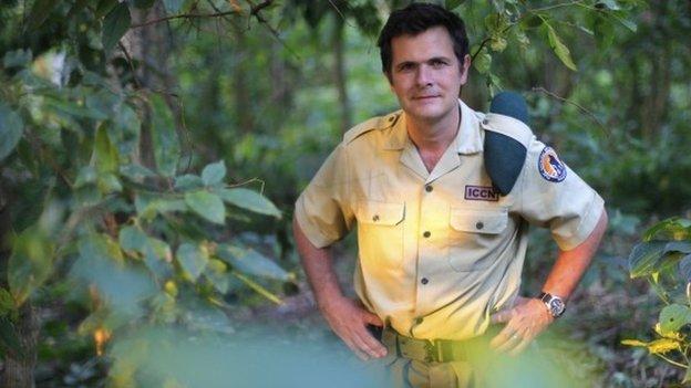 Emmanuel de Merode, Virunga National Park director, poses at the park headquarters in Rumangabo on 11 August 2012