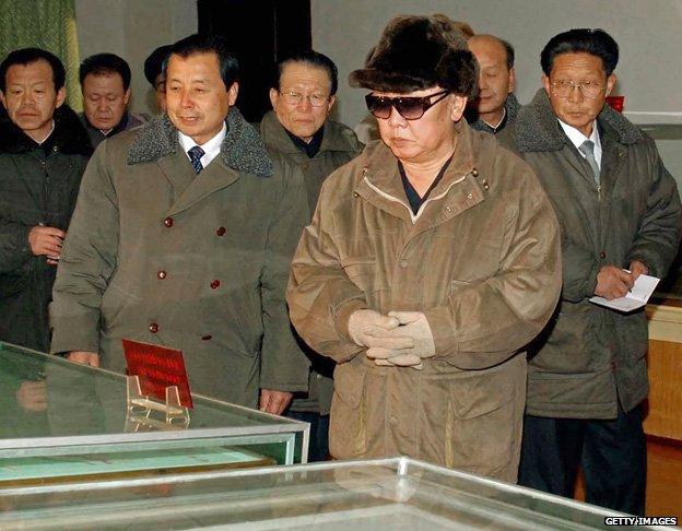 Kim Jong-il inspecting Chongjin University of Mining and Metallurgy