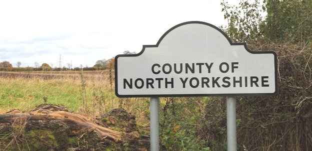 North Yorkshire sign