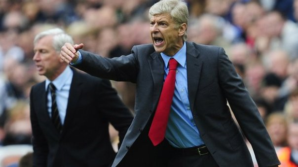 Alan Pardew and Arsene Wenger