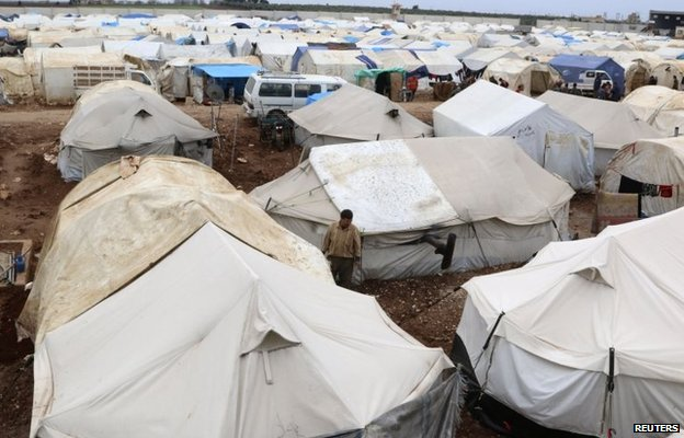 Refugee camp near Bab al-Salam border crossing (March 2014)