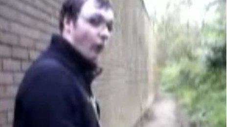 Michael Piggin in the homemade video