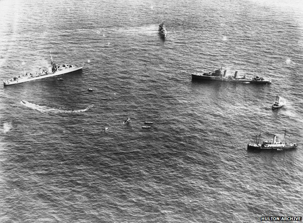 Ships join the rescue operation in 1939