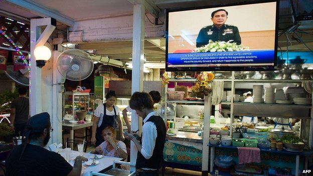 Gen Prayuth Chan-ocha addresses nation. 30 May 2014