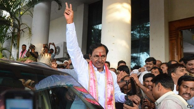K Chandrasekhar Rao is the first chief minister of Telangana