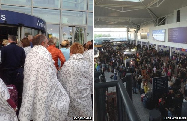 Affected passengers at Bristol Airport