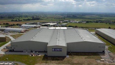 Airbus' North Factory at Broughton, Flintshire