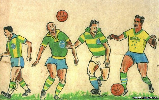 Schlee's original illustrations for the Brazil kit