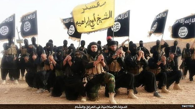 Image of ISIS fighters taken from Twitter