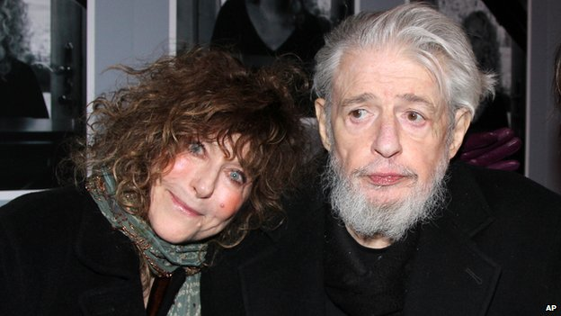 Gerry Goffin and his wife Michelle at the opening night of Beautiful: The Carole King Musical in New York