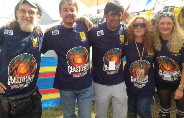 DeafZone staff at Glastonbury