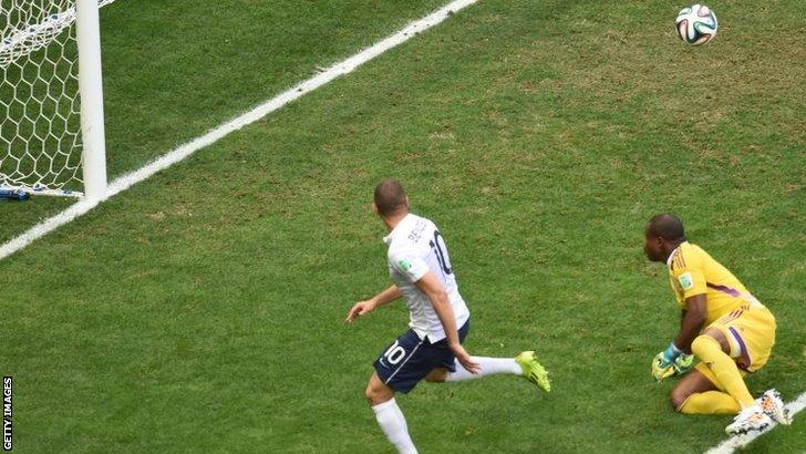 Karim Benzema shot