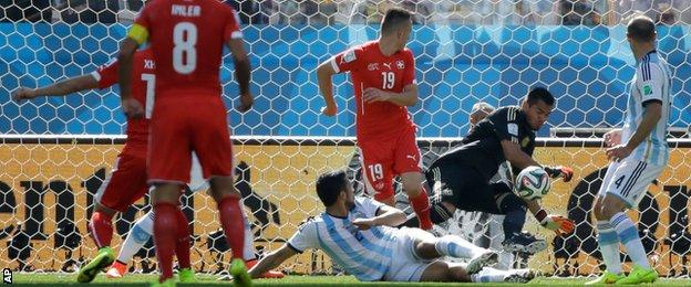 Argentina keeper Sergio Romero