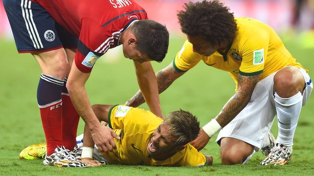 Neymar's tournament-ending injury