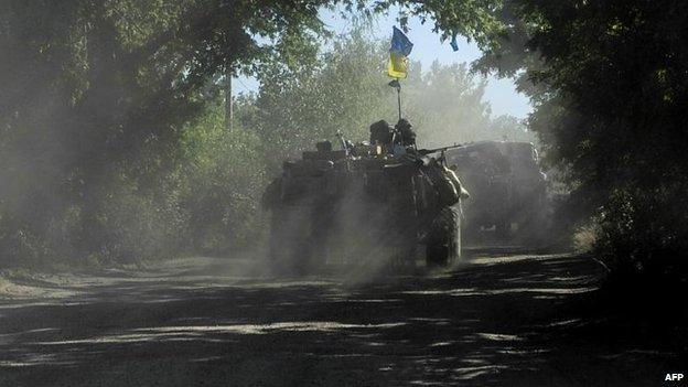 Ukrainian forces near Sloviansk, 4 July