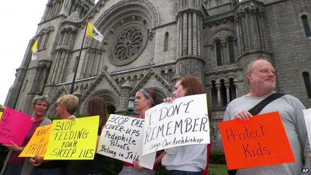 Demonstration against clerical sexual abuse, photo by Associated Press