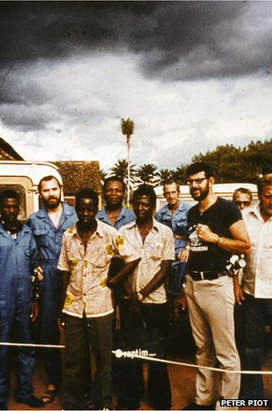 Piot and the team in Yambuku in 1976