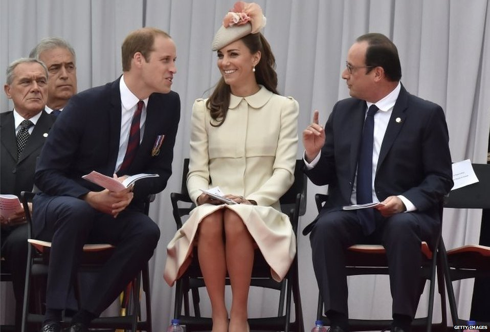 The Duke and Duchess of Cambridge with Francois Hollande