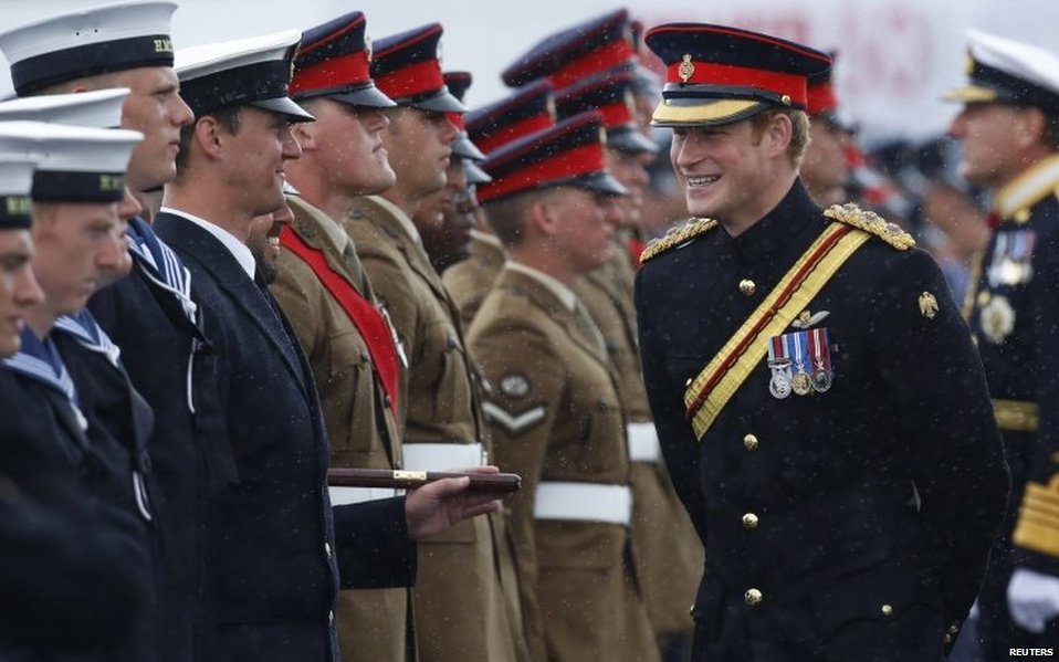 Prince Harry meeting members of the armed forces in Kent