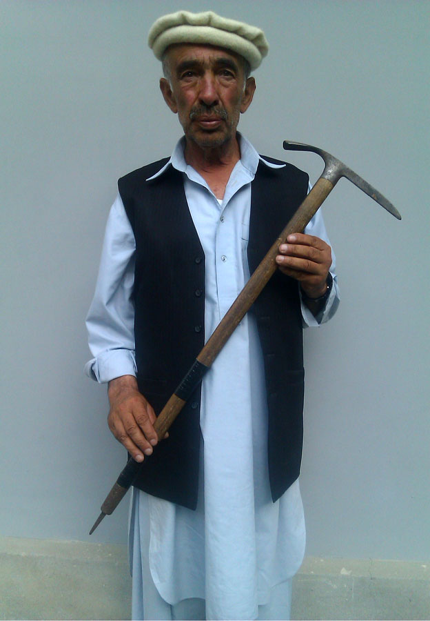Sultan Ali, with Amir Mehdi's ice axe
