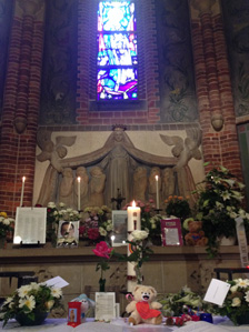 Tributes in Hilversum church