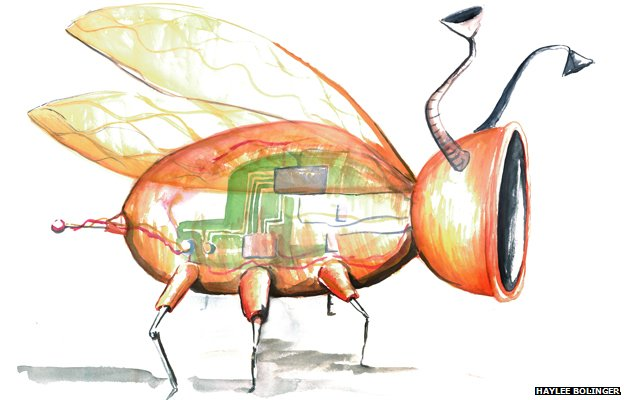 A drawing of an imagined future nanobug