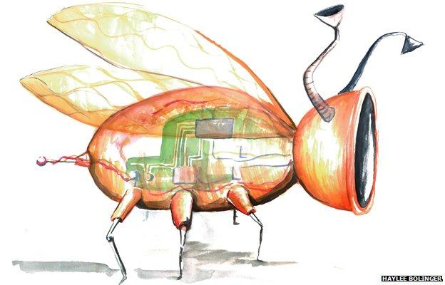 A drawing of an imagined future nanobug