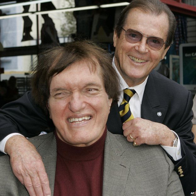 Richard Kiel and Roger Moore