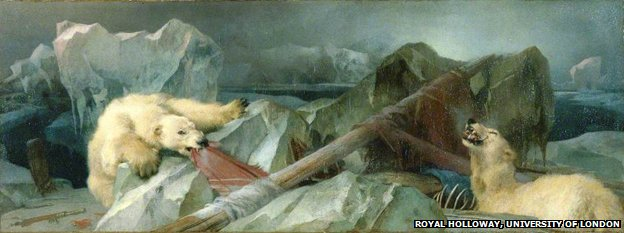 "Painting by Edwin Landseer ""Man Proposes, God Disposes"" (1864)"