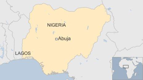 Nigeria Lagos map
